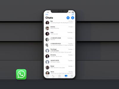 Tenha o WhatsApp com visual do iPhone X com iOS 11 - Teteu Tutors™